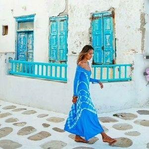 NWT Zara Rare Tie Dye Knit Maxi Dress Blogger Fav